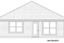 Home Plan - Cottage Exterior - Rear Elevation Plan #84-512