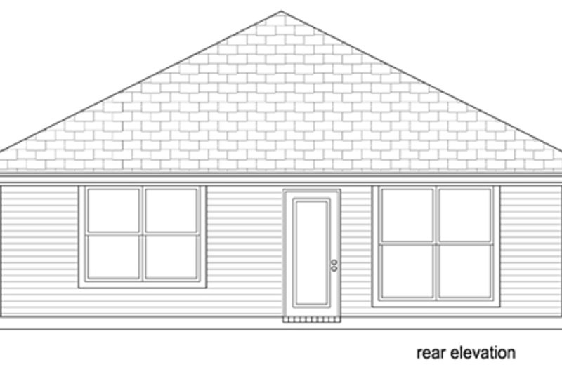 Cottage Exterior - Rear Elevation Plan #84-512 - Houseplans.com