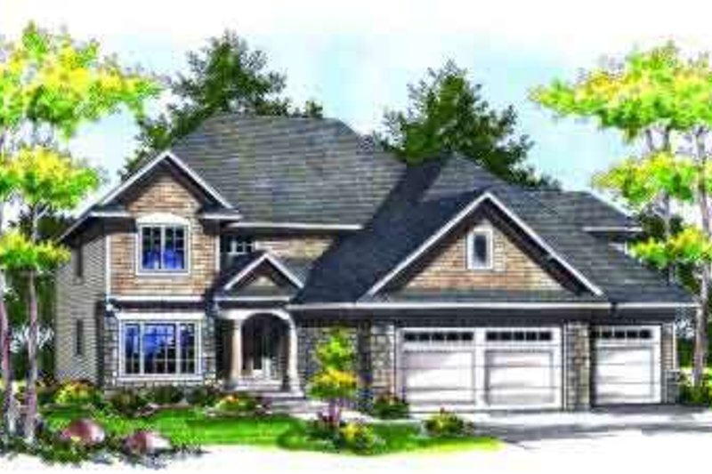 Dream House Plan - Traditional Exterior - Front Elevation Plan #70-724
