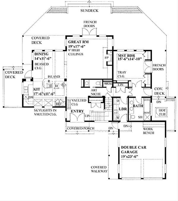 Farmhouse Floor Plan - Main Floor Plan Plan #118-121