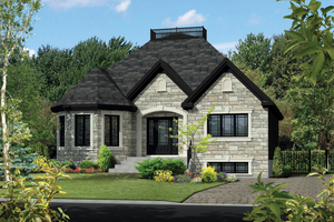 European Exterior - Front Elevation Plan #25-4466