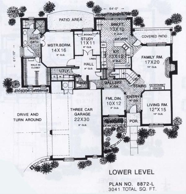 Colonial Floor Plan - Main Floor Plan #310-912