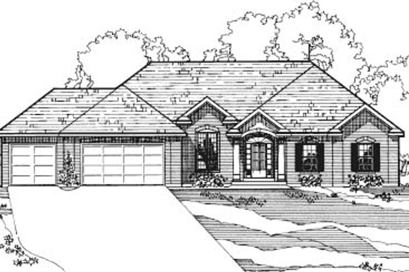 Traditional Exterior - Front Elevation Plan #31-119 - Houseplans.com