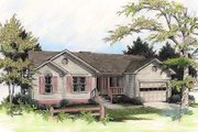 Country Style House Plan - 3 Beds 2 Baths 997 Sq/Ft Plan #56-103 Exterior - Front Elevation