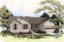 Country Exterior - Front Elevation Plan #56-103