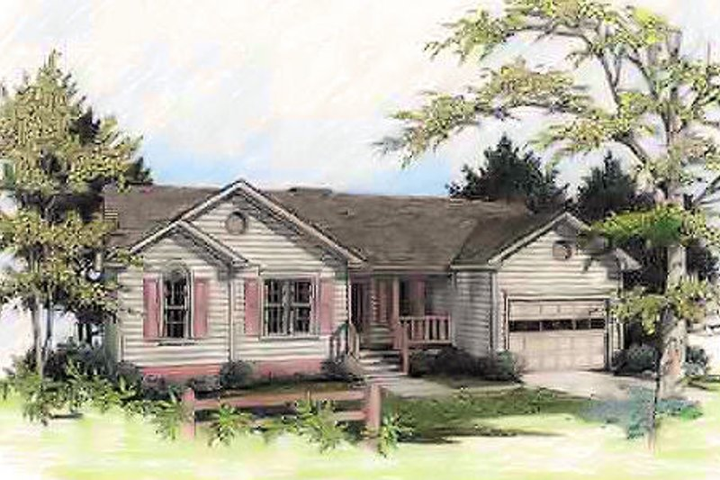 Country Exterior - Front Elevation Plan #56-103 - Houseplans.com