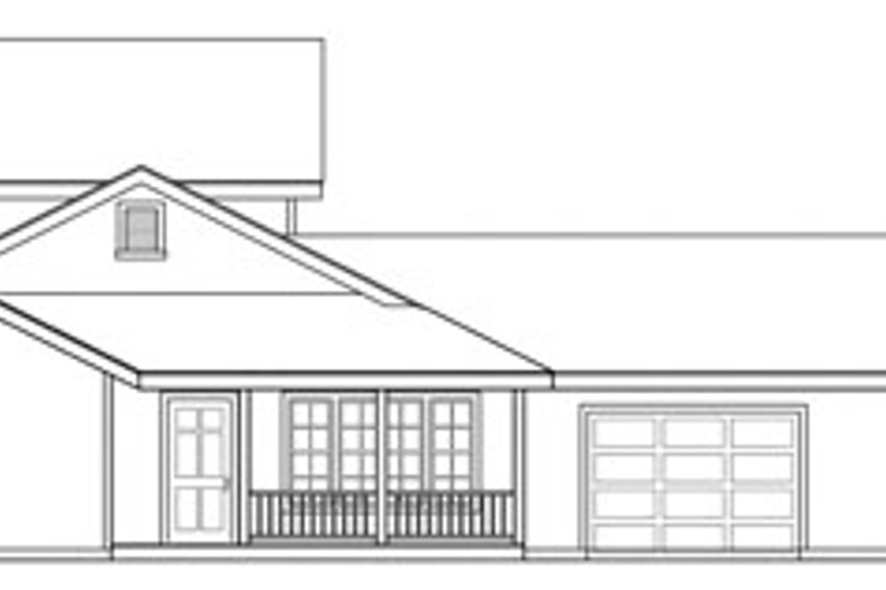 Contemporary Exterior - Other Elevation Plan #124-804 - Houseplans.com