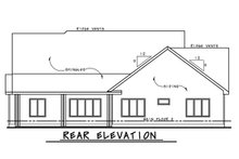 House Plan Design - European Exterior - Rear Elevation Plan #20-2283