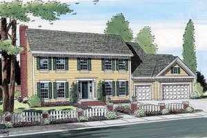 Colonial Exterior - Front Elevation Plan #312-565