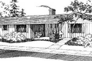 Ranch Exterior - Front Elevation Plan #303-154