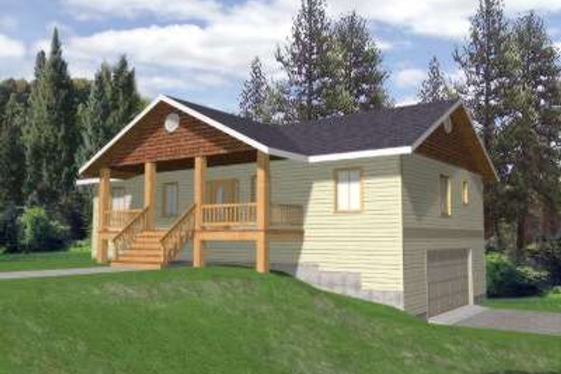 Traditional Exterior - Front Elevation Plan #117-449 - Houseplans.com