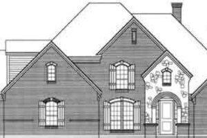 European Exterior - Front Elevation Plan #141-117