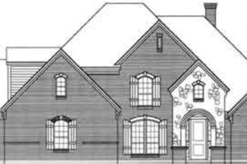 European Style House Plan - 5 Beds 4.5 Baths 3632 Sq/Ft Plan #141-117 Exterior - Front Elevation