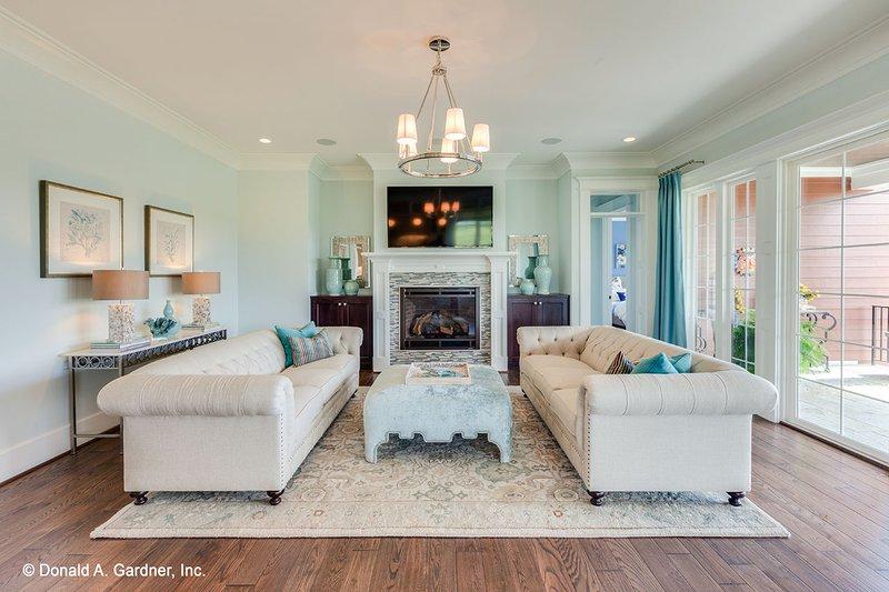 Craftsman Interior - Family Room Plan #929-839 - Houseplans.com