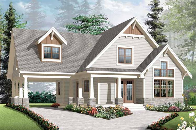 Architectural House Design - Traditional Exterior - Front Elevation Plan #23-2546