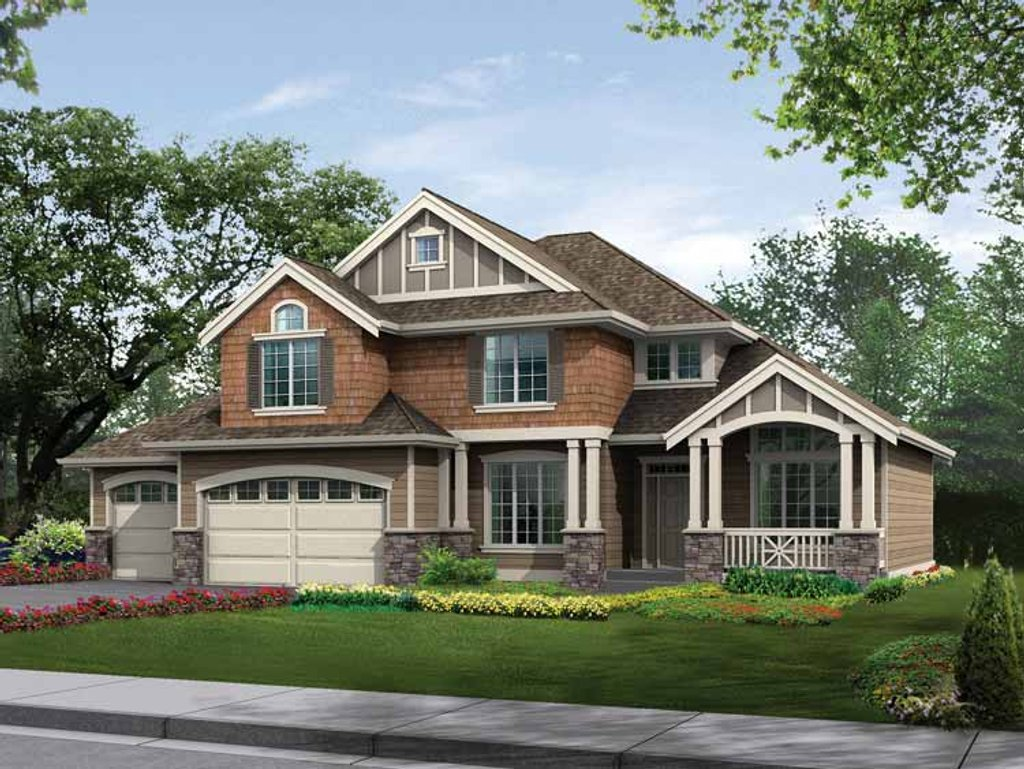Craftsman style house plan 4 beds 2 5 baths 2420 sq ft for Craftsman vs mission style