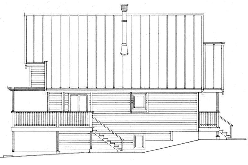 Cabin Exterior - Other Elevation Plan #118-167 - Houseplans.com