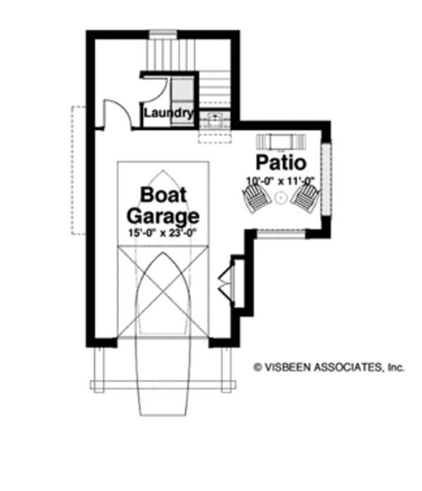 Cabin Floor Plan - Lower Floor Plan Plan #928-246