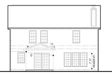 Traditional Exterior - Rear Elevation Plan #1053-50