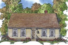 Home Plan - Colonial Exterior - Front Elevation Plan #1016-74