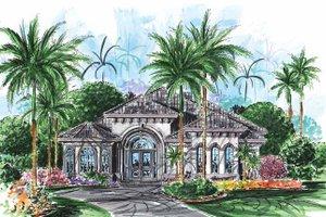 Dream House Plan - Mediterranean Exterior - Front Elevation Plan #1017-117