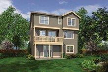 Dream House Plan - Craftsman Exterior - Rear Elevation Plan #132-559