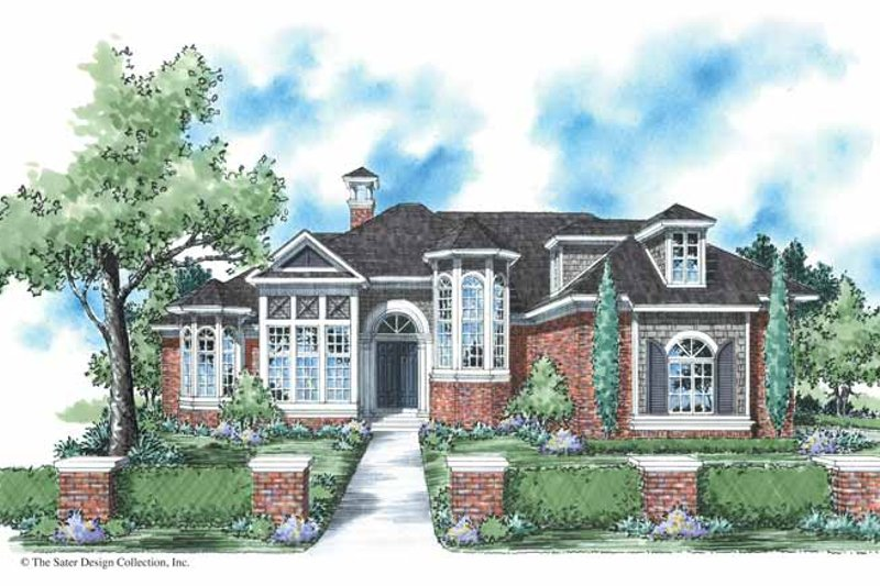Colonial Exterior - Front Elevation Plan #930-292