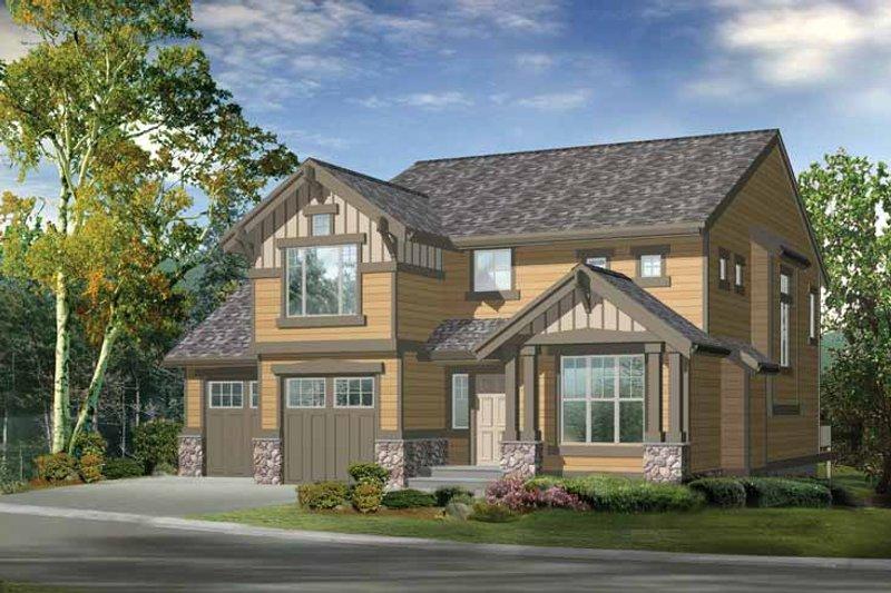 Home Plan - Craftsman Exterior - Front Elevation Plan #132-290
