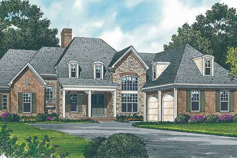 Country Exterior - Front Elevation Plan #453-229