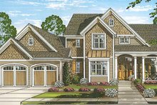 Traditional Exterior - Front Elevation Plan #46-850