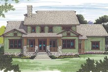 Craftsman Exterior - Rear Elevation Plan #453-558