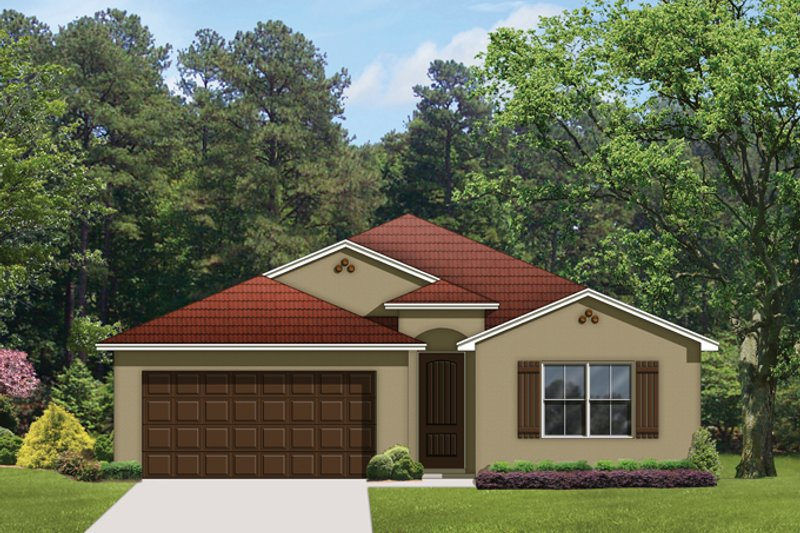 Dream House Plan - Mediterranean Exterior - Front Elevation Plan #1058-58