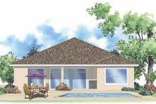 Home Plan - Mediterranean Exterior - Rear Elevation Plan #930-379