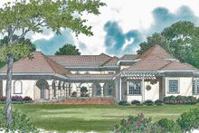 House Plan Design - Mediterranean Exterior - Rear Elevation Plan #453-323