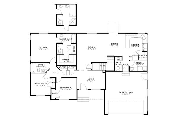 Traditional Floor Plan - Main Floor Plan Plan #1060-58