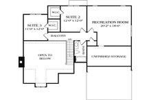 Craftsman Floor Plan - Upper Floor Plan Plan #453-10