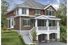 Architectural House Design - Craftsman Exterior - Front Elevation Plan #132-383