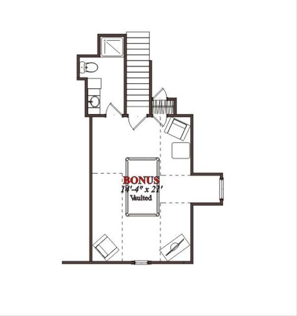 European Floor Plan - Other Floor Plan Plan #63-302