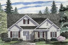 House Plan Design - Craftsman Exterior - Front Elevation Plan #316-259