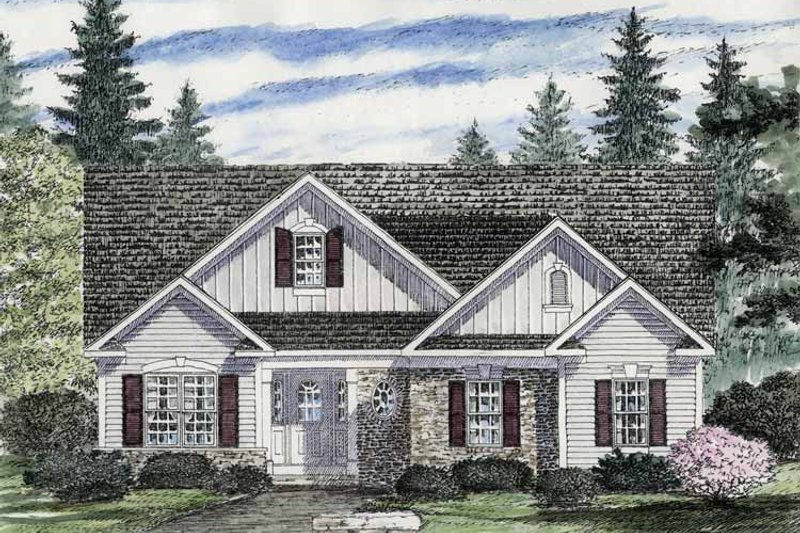 Architectural House Design - Craftsman Exterior - Front Elevation Plan #316-259