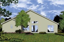 House Plan Design - Mediterranean Exterior - Rear Elevation Plan #417-822