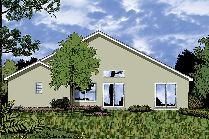 Mediterranean Exterior - Rear Elevation Plan #417-822 - Houseplans.com