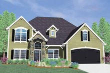European Exterior - Front Elevation Plan #509-351