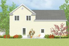 House Blueprint - Country Exterior - Rear Elevation Plan #72-1113