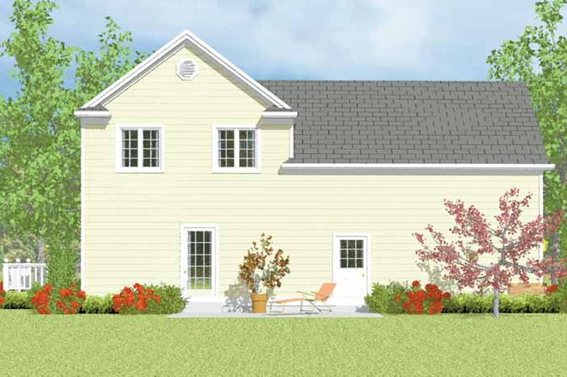 Country Exterior - Rear Elevation Plan #72-1113 - Houseplans.com