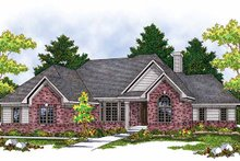 Dream House Plan - Mediterranean Exterior - Front Elevation Plan #70-1365