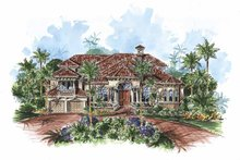 House Plan Design - Mediterranean Exterior - Front Elevation Plan #1017-67