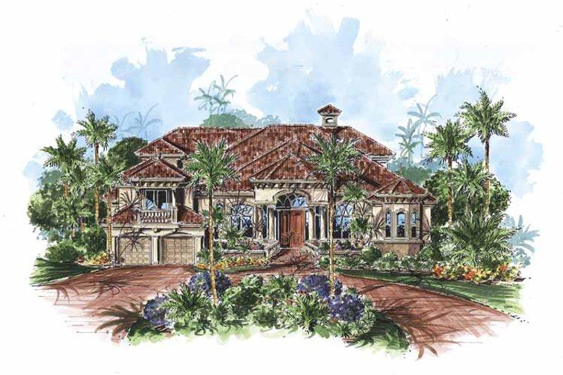 House Plan Design - Mediterranean Exterior - Front Elevation Plan #1017-67