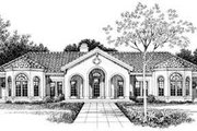 Mediterranean Style House Plan - 4 Beds 3 Baths 2831 Sq/Ft Plan #72-161 Exterior - Other Elevation