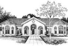 House Blueprint - Mediterranean Exterior - Other Elevation Plan #72-161